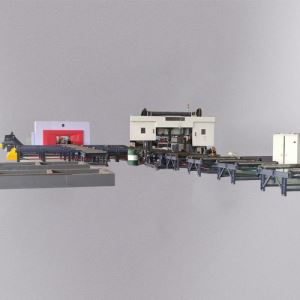 WZ-9九轴三维钻锯生产线